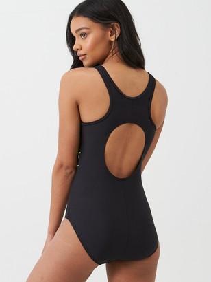 Pour Moi? Energy Chlorine Resistant High Neck Zip Front Swimsuit - Black