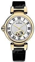 Edox Women's 85025 37RC ARR LaPassion Analog Display Swiss Automatic Black Watch