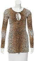 Dolce & Gabbana Semi-Sheer Cheetah Print Top