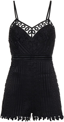 Charo Ruiz Ibiza Kaido Crocheted Lace Playsuit