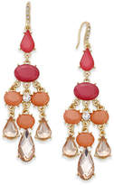 INC International Concepts Gold-Tone Pink Stone Chandelier Earrings, Created for Macy's