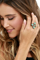 LuLu*s Mystic Around Turquoise and Gold Ring