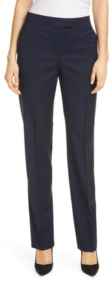 HUGO BOSS Tewah 1 Straight Leg Stretch Wool Pants