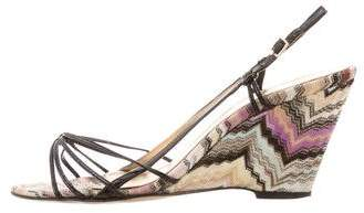 Missoni Chevron Slingback Wedges