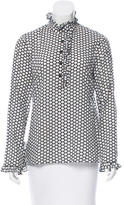 Tory Burch Printed Ruffle-Trimmed Tunic
