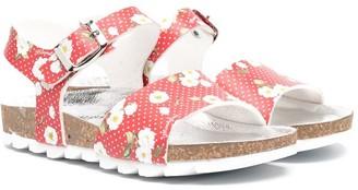 MonnaLisa Orchid Print Sandals