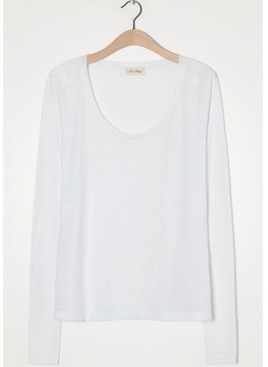 American Vintage Jacksonville Long Sleeve White T Shirt - X Small