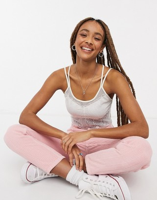 Free People v-neck cami top in neutral