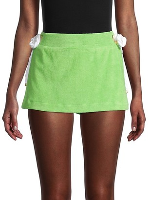 Milly Cotton-Blend Mini Skirt