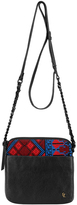 Elliott Lucca Black & Red Zoe Crossbody Bag