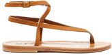 K. Jacques Delta wraparound leather sandals
