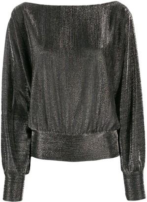 Liu Jo metallic boat neck sweatshirt