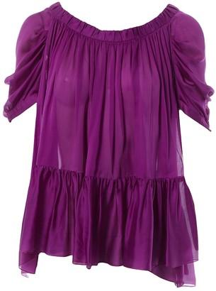 Prada Purple Silk Top for Women