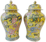 One Kings Lane Vintage Imperial Yellow Ginger Jars