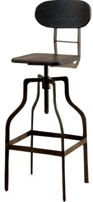 Williston Forge Tracie Swivel Solid Wood Adjustable Height Bar Stool Color: Dark Brown