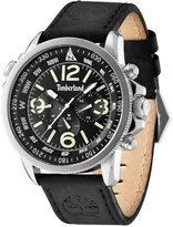 Timberland Men's Camptom Black Leather Strap Watch 46x53mm TBL13910JS02
