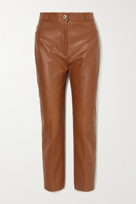 Stella McCartney Vegetarian Leather Straight-leg Pants - Light brown