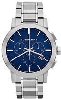 Burberry Mens City Silver-Tone Chronograph Watch