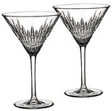 Waterford Crystal Lismore Diamond Martini Glass Pair
