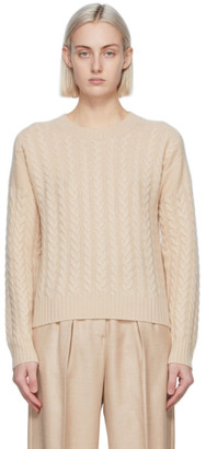 Max Mara Beige Wool and Cashmere Breda Sweater