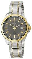 Seiko SUR074 Grey Dial Two Toned Stainless Steel Band Men