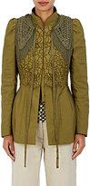 Dries Van Noten Women's Belize Embellished Dupioni Jacket-Dark green, Green
