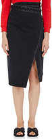 Balenciaga Women's Denim Wrap Skirt-BLACK