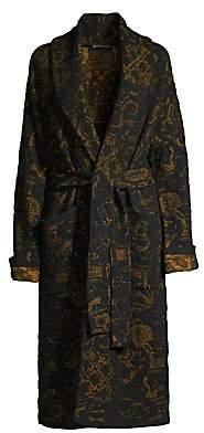 Etro Women's Long Floral Jacquard Knit Trench Coat