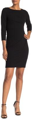 Calvin Klein Starburst 3/4 Sleeve Sheath Dress
