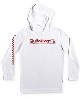 Quiksilver Boys' Checkered-Sleeve Hoodie - Big Kid