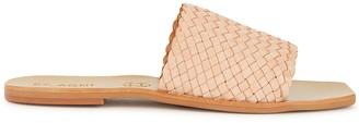 ST. AGNI Alice Stone Woven Leather Sliders