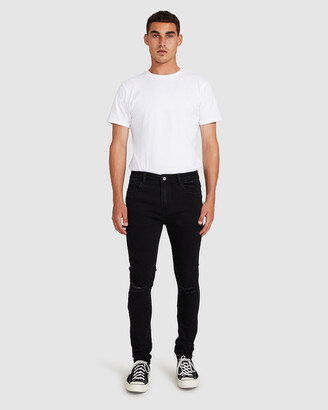 Insight Pistol Jeans Ripped Burnout Black