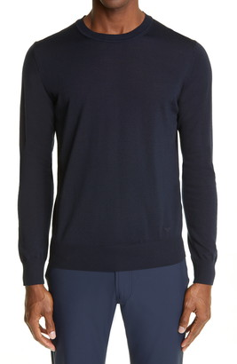 Emporio Armani Men's Wool Crewneck Sweater