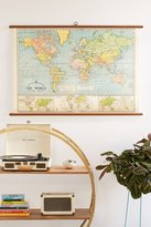 Urban Outfitters World Map School Chart Wall Hanging