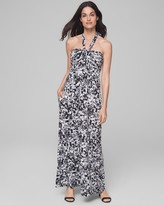 Built-In Bra Faye Maxi Halter Dress