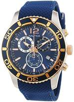 Nautica men's watch with chronograph, quartz, leather NAI16502G.