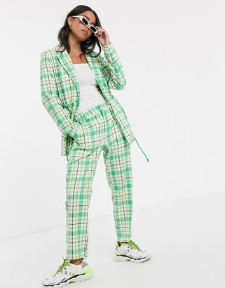 Kaffe check suit trousers