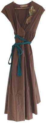 Marni Brown Cotton Dresses