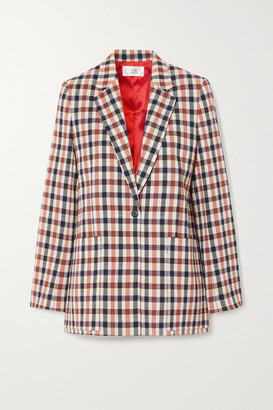 Victoria Victoria Beckham Checked Jacquard Blazer - Red
