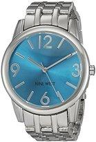 Nine West Women's NW/1765TQSB Silver-Tone Bracelet Watch