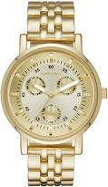 Arizona Womens Gold Tone Bracelet Watch