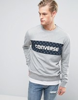 Converse Sweat With Large Dot Logo in Gray 10003758-A02