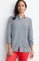 J. Jill Gingham Easy Shirt