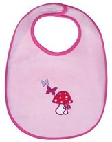 Lassig Water Repellent Bibs for Toddlers, Magenta Mushroom, 12 Inch by