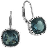 The Sak Cushion Cut Crystal Leverback Earrings