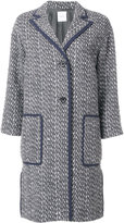 Agnona woven single breasted coat - women - Cotton/Acrylic/Polyamide/Wool - 40
