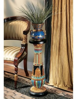 Toscano Design Regal Egyptian Luxor Pedestal Plant Stand Design