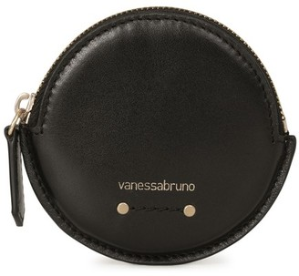 Vanessa Bruno Small Holly round smooth leather purse