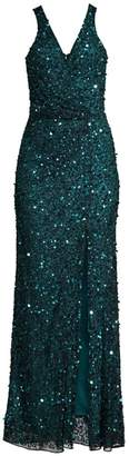 Parker Black Harmony Sequin Beaded Gown
