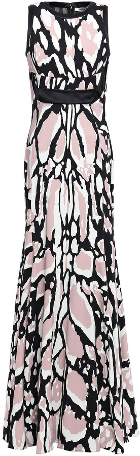 Thumbnail for your product : Roberto Cavalli Cutout Leopard-print Jersey Gown